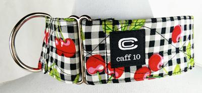 "Cherry Check Designer 2"" Collar - caff 10"