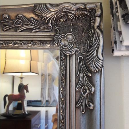 Chevalier Antique Silver Mirror - $450