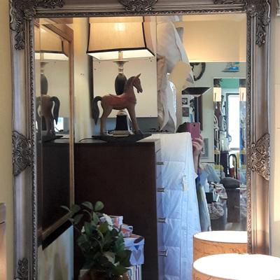 Chevalier Antique Silver Mirror