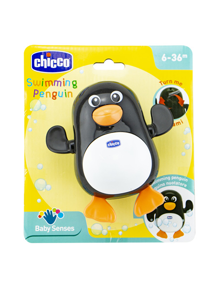 CHICCO BathTime Toy -Swimming Penguin -6-36M