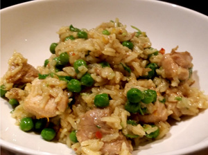 Chicken & baby mint peas kedgeree
