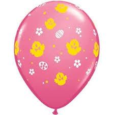 Chicks & eggs latex balloon x 1