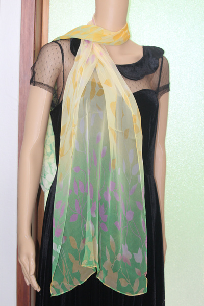 CHIFFON SCARF - YELLOW LEAVES CODE: LSO6