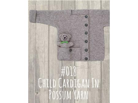 Child Cardy In Possum Yarn Pattern