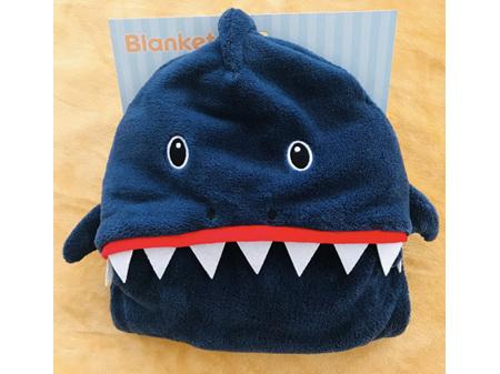 Childrens Hooded Blanket Shark