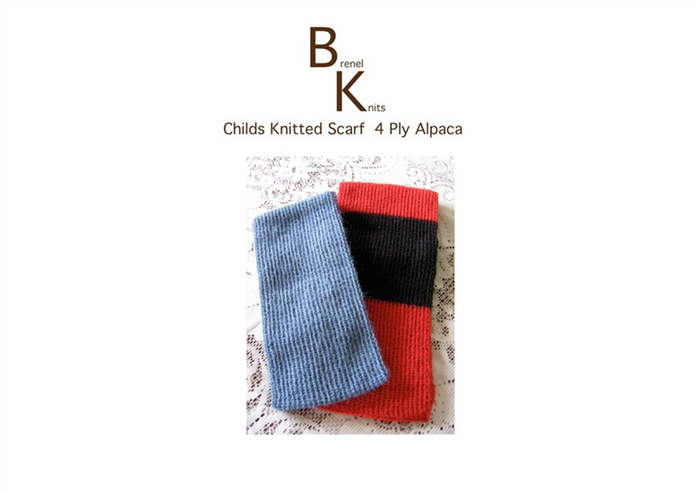 Childs Alpaca Knitted Scarf