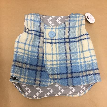 Child's Sleeveless Coat - Blue - 12 Months