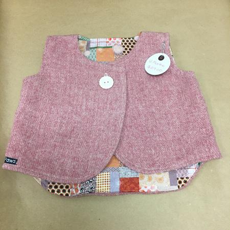 Child's Sleeveless Coat - Pink - 12 Months