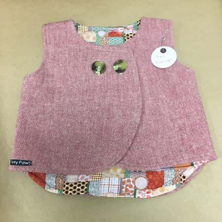 Child's Sleeveless Coat - Pink - Size 3