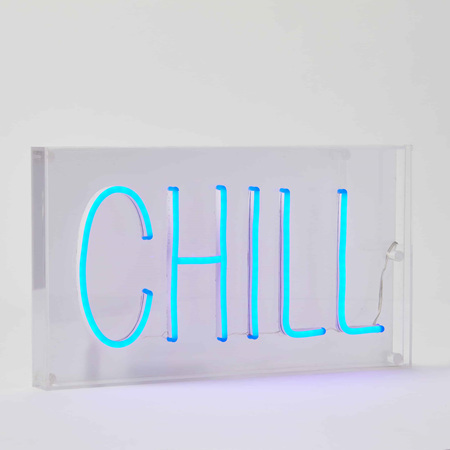 CHILL LED NEON BOX LIGHT (BATTERY+USB)