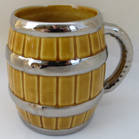 China tankard with silver trim