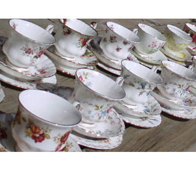 CHINA TRIOS CUPS SAUCERS and PLATES