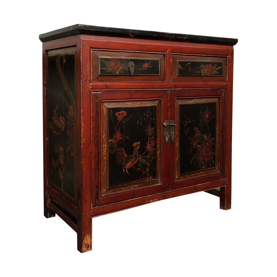 Chinese antique camphor cabinet small cabinet chinese for Chinese furnishings