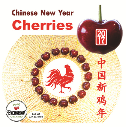 Chinese New Year Cherries from Evergrow Orchard, NZ
