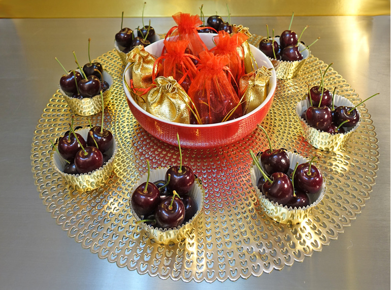 Chinese New Year cherry centrepiece