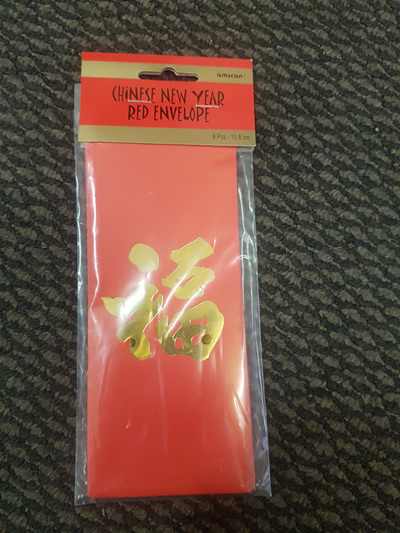 Chinese New Year - red envelopes 8 per pack