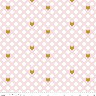 Chloe & Friends Cat Dot Pink Sparkle