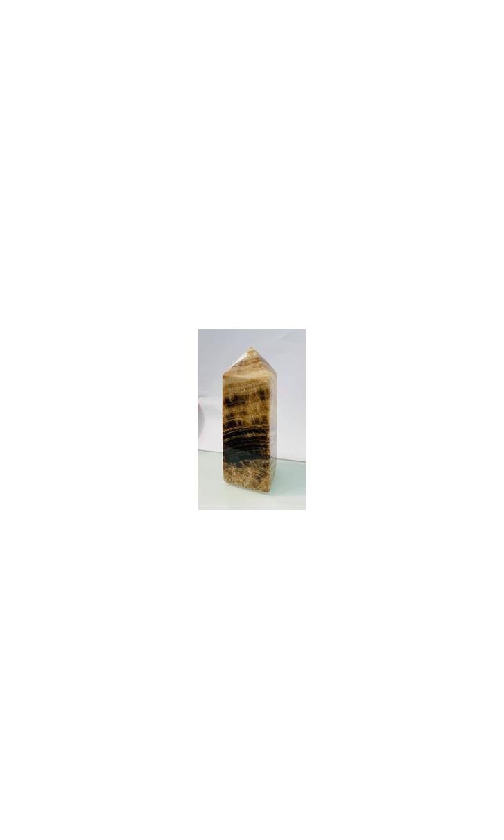Chocolate Calcite Tower 10.5cm