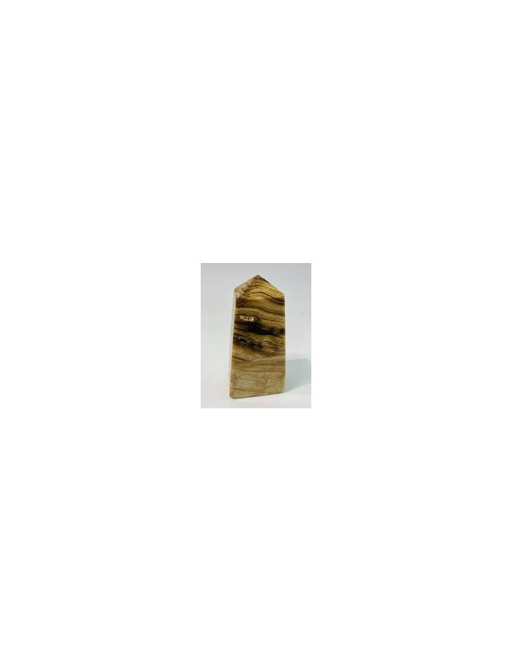 Chocolate Calcite Tower 10cm