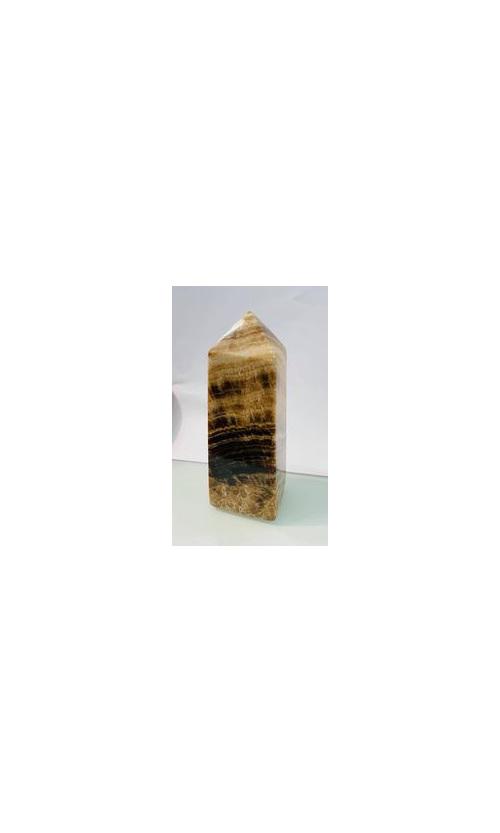 Chocolate Calcite Tower 13cm