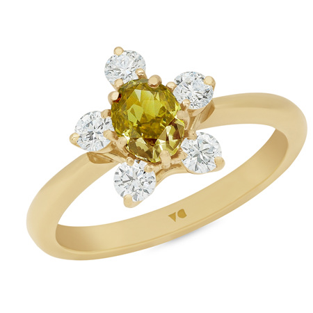 Chorus: Golden Yellow Diamond Ring