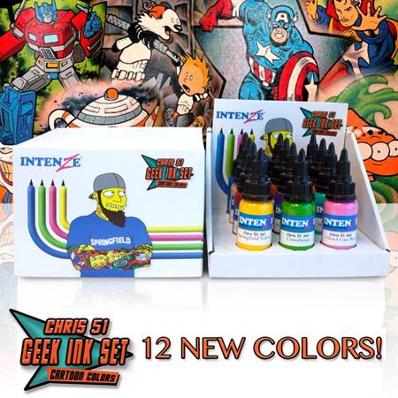 Chris 51 Geek Ink Set 12x1oz