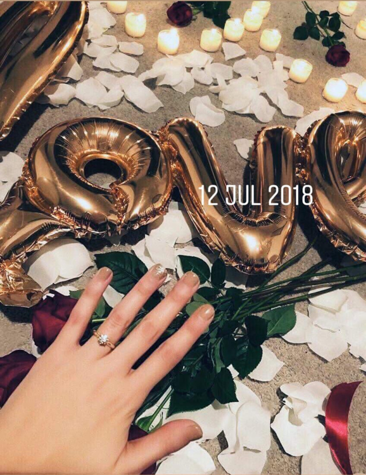 Chris Eves Hurricane engagement ring fiance
