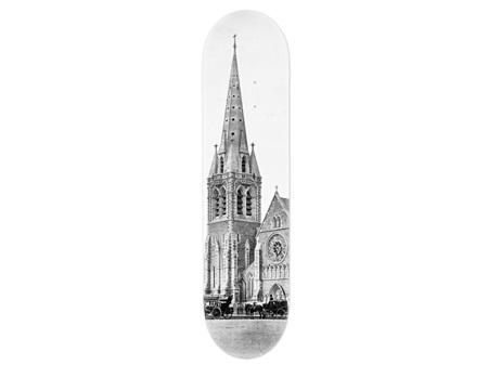 Christchurch Cathedral Skateboard Deck Art