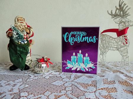 Christmas Candles Card