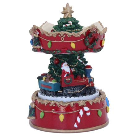 Christmas carousel with music.