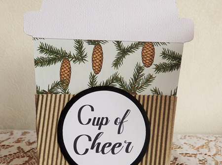 Christmas Coffee Gift Card Holder - Cup of Cheer
