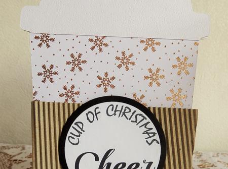 Christmas Coffee Gift Card Holder - Cup Of Christmas Cheer