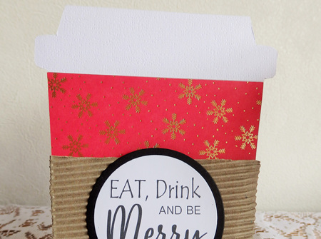 Christmas Coffee Gift Card Holder - Eat, Drink And Be Merry