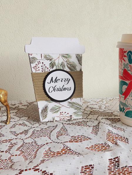 Christmas Coffee Gift Card Holder - Merry Christmas