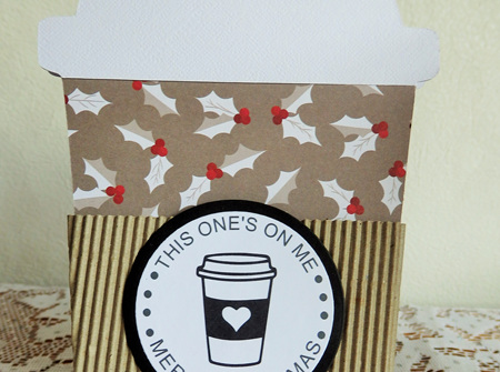 Christmas Coffee Gift Card Holder - This One's On Me