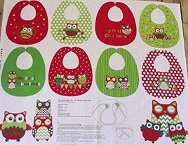 Christmas Happy Owl Bib Panel