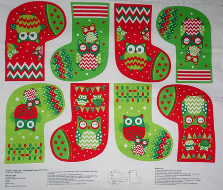 Christmas Happy Owl Panel