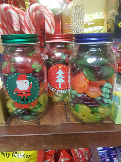 Christmas jar filled with sour lollies! x 1 jar