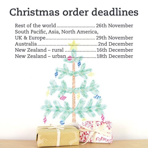 Christmas order deadlines