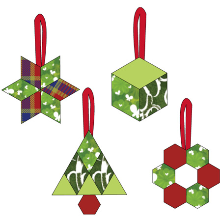 Christmas Ornaments by Paper Pieces