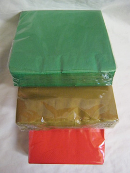 Christmas Serviettes - 3 colours to choose from