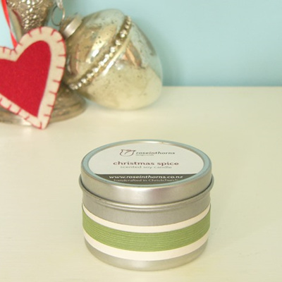 Christmas soy tin candles