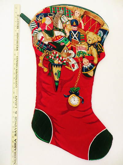 Christmas stocking Bears and Clocks