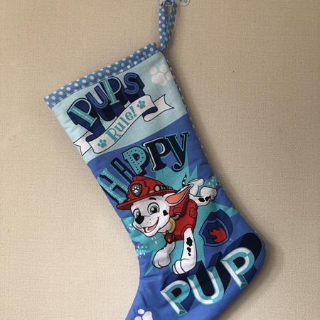 Christmas stocking - Paw Patrol blue