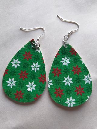 Christmas Teardrop Earrings Style 2