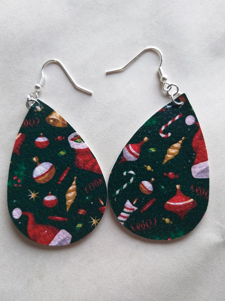 Christmas Teardrop Earrings Style 3