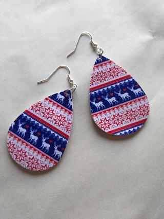 Christmas Teardrop Earrings Style 4