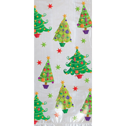 Christmas tree design cellophane bags - 20 pack - smaller size