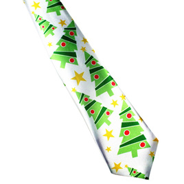 CHRISTMAS TREES & STARS CHRISTMAS NOLVETY TIE