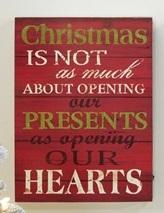 Christmas Words Light Up Wall Art